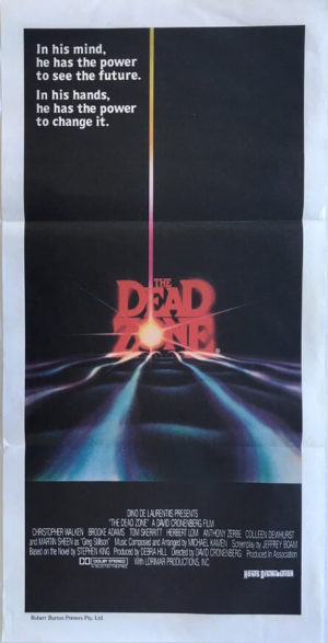 the dead zone australian daybill poster written by steven king