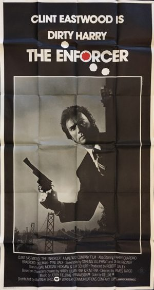 Dirty Harry The Enforcer US 3 Sheet Movie Poster 1976 featuring Clint Eastwood
