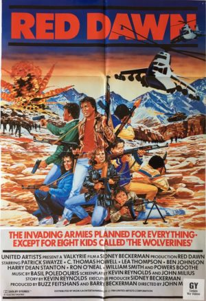 Red dawn uk one sheet movie poster 1984 (1)