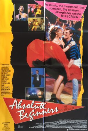 absolute beginers australian one sheet movie poster featuring david bowie (1)