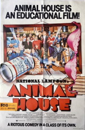 animal house uk one sheet movie poster with new zealand rating snipe (1)
