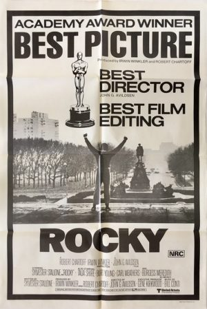 rocky australian one sheet movie poster 1977 post oscars
