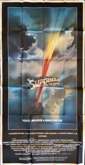 superman the movie 1978 US 3 sheet movie poster