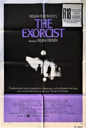 the exorcist us one sheet movie poster with new zealand rating snipe