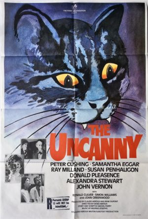 the uncanny uk one sheet poster 1977 with peter cushing painted by vic fair (1977)