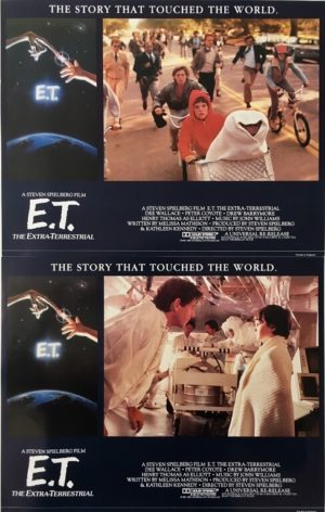 E.T lobby card set 11 x 14 inches