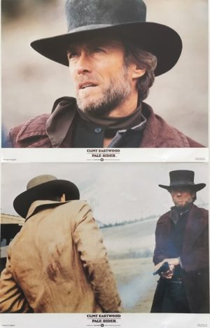Pale rider lobby card set 11 x 14 inches staring clint eastwood