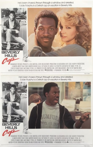 beverly hills cop lobby card set 11 x 14 inches staring eddie murphy 1