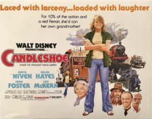 candleshoe title card 11 x 14 inches a walt disney production staring jodie foster and david niven 1