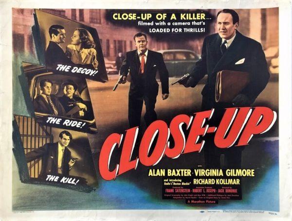 close-up 1948 US half sheet movie poster