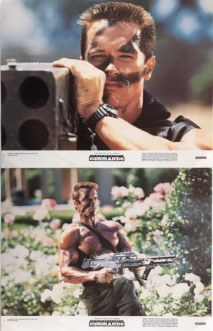 commando lobby card set (2)