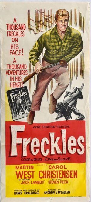 freckles australian daybill poster 1960