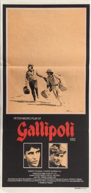 gallipoli australian daybill poster featuring mel gibson 1