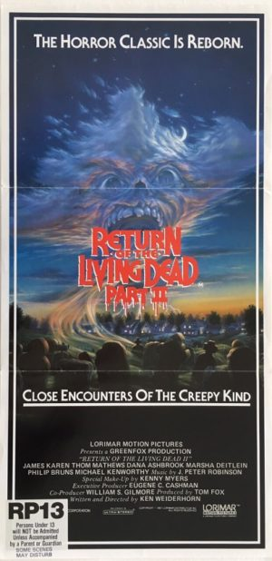 return of the living dead part 2 australian daybill poster