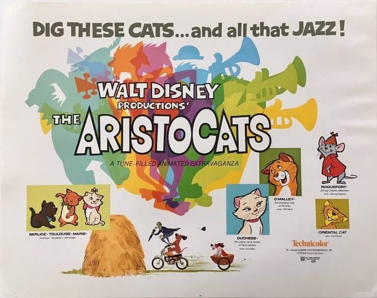 the aristocats title card 11 x 14 inches walt disney production