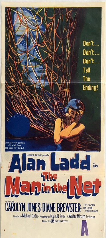 the man in the net with alan ladd australian daybill poster 1