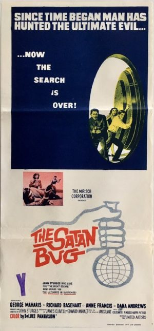 the satan bug australian daybill poster 1965