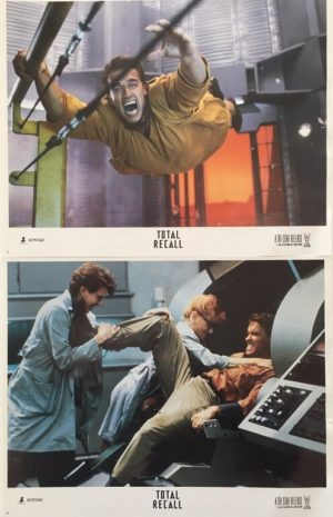 total recall lobby card set 11 x 14 inches staring arnold schwarzenegger 3
