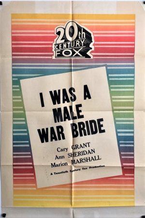 i was a male war bride 20th century fox stock australian one sheet movie poster