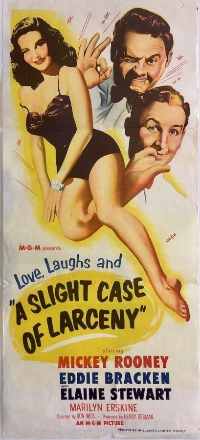 A Slight Case of Larceny 1953 australian daybill poster