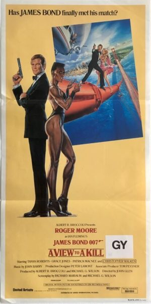 a view to a kill james bond australian daybill poster 007