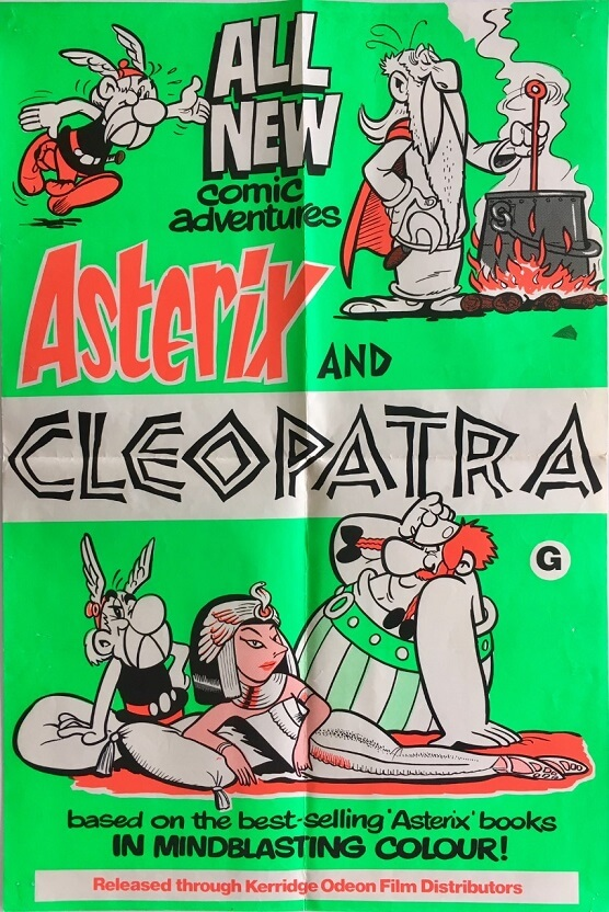 asterix and cleopatra new zealand daybill poster