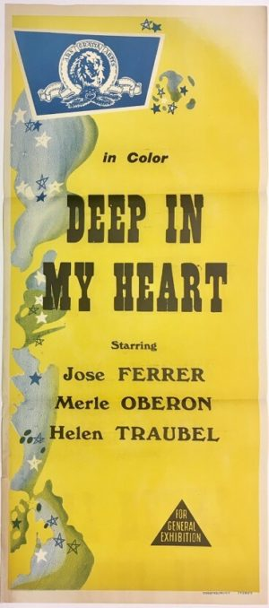 deep in my heart australian daybill poster rerelease