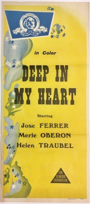 deep in my heart australian daybill poster rerelease