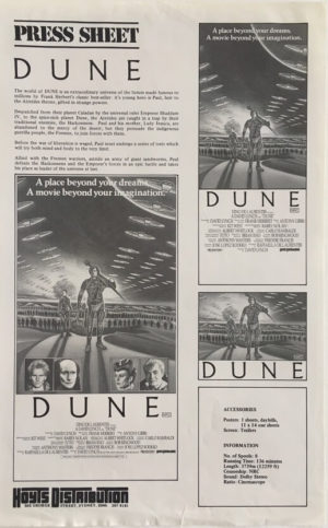 dune press sheet david lynch