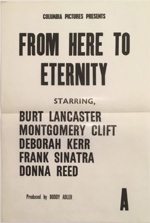 from here to eternity new zealand daybill poster