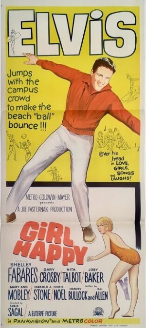 girl happy elvis presley australian daybill movie poster 1