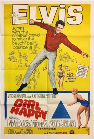 girl happy elvis presley australian one sheet movie poster 1