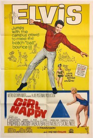 girl happy elvis presley australian one sheet movie poster 1