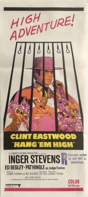 hang em high australian daybill poster featuring clint eastwood 1