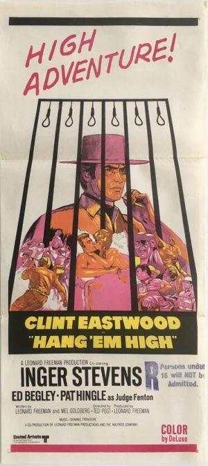 hang em high australian daybill poster featuring clint eastwood 1
