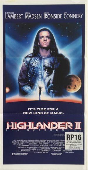 highlander 2 australian daybill poster