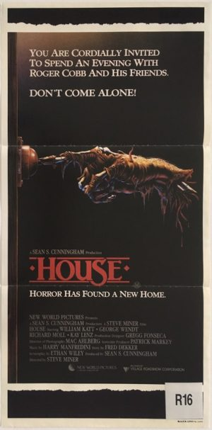 house horror movie australian daybill poster