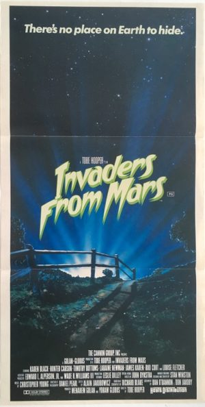 invaders from mars australian daybill poster