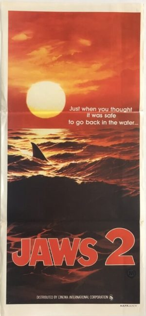 jaws 2 advance australian daybill poster