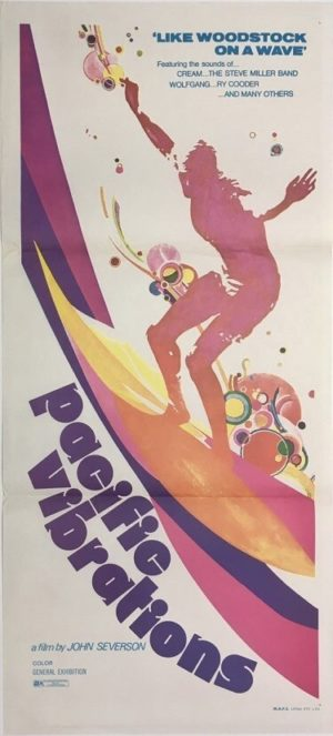 pacific vibrations australian surfing movie daybill poster
