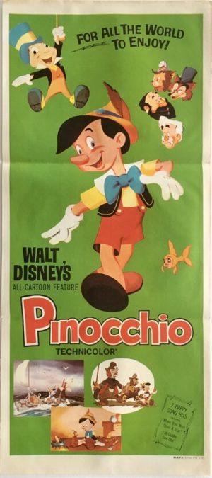 pinocchio australian rerelease daybill poster