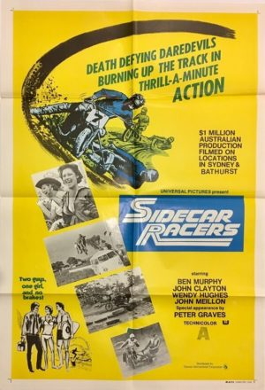 sidecar racers australian one sheet poster