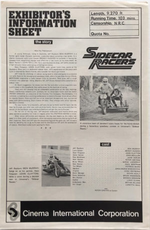 sidecar racers exhibitors information sheet 2