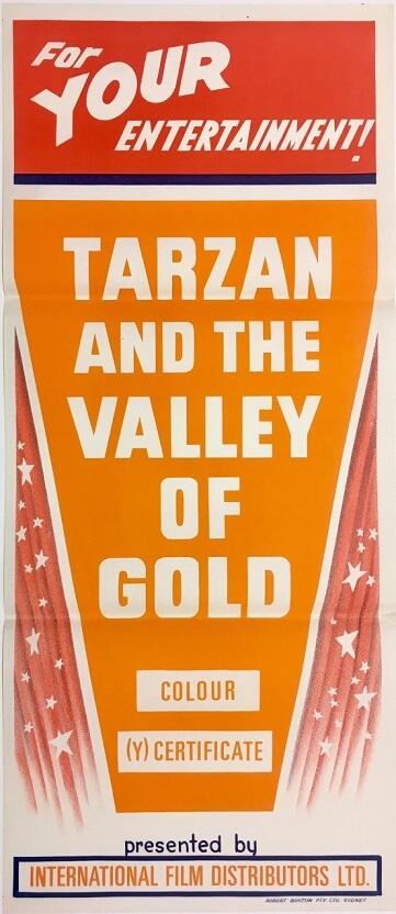 tarzan and the valley of gold australian stock daybill poster