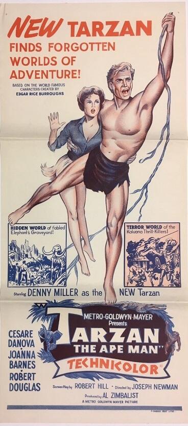 tarzan the ape man australian daybill poster 2