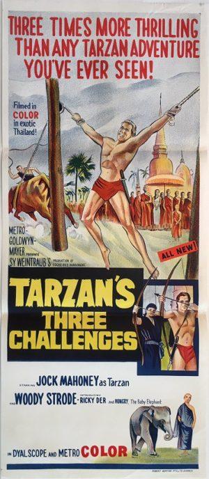 tarzans three challenges australian daybill poster