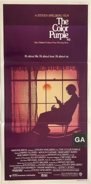 the color purple australian daybill poster directed by steven spielberg 2