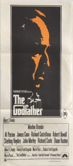 the godfather australian daybill second print orange very rare