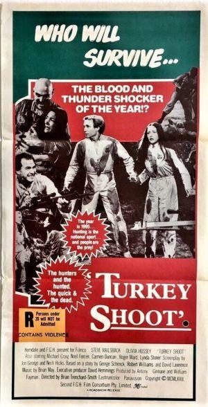turkey shoot australian daybill poster 1982