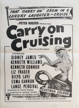 carry on cruising 1962 New Zealand daybill poster